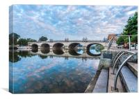 Kingston Bridge, Canvas Print