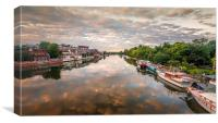 View of the River Thames at Kingston Unon Thames, Canvas Print