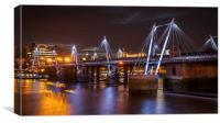 Hungerford Bridge and Golden Jubilee Bridges, Canvas Print