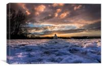 The Snowman on Reigate Hill, Canvas Print