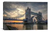 Tower Bridge at sunset, Canvas Print