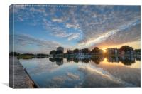 Southsea Boating Lake at Sunset, Canvas Print
