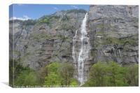 Lauterbrunnen Waterfall, Canvas Print