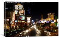 Las Vegas Lights, Canvas Print