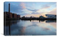 Canning Dock, Canvas Print