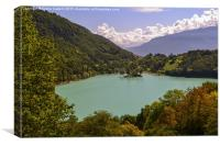 Lake Tenno, Northern Italy, Canvas Print