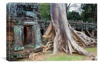 Ta Prohm Temple in Cambodia, Canvas Print