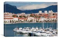 Split Cityscape in Croatia, Canvas Print