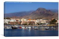 Los Cristianos in Tenerife, Canvas Print