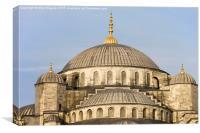 Blue Mosque Domes, Canvas Print