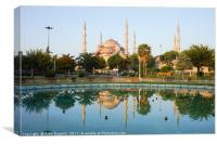 Blue Mosque at Dawn in Istanbul, Canvas Print