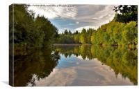 Reflections in Three Island Lake, Canvas Print