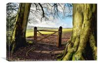 Gateway to the Country , Canvas Print