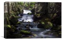 Lumsdale Valley Waterfall, Canvas Print
