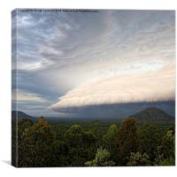 lenticular storm cloud, Canvas Print