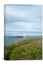 St Mary's Lighthouse, Whitley Bay, Canvas Print