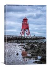 Herd Groyne Lighthouse, South Shields, Canvas Print