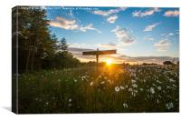 The Angel of the North at Sunset, Canvas Print