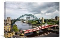 Tyne Bridge & Swing Bridge, Canvas Print