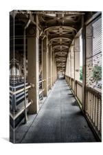 High Level bridge walkway, Canvas Print