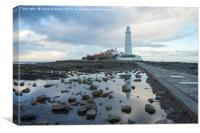 St Marys Lighthouse - Whitley Bay, Canvas Print