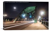 Tyne Bridge light trails - Newcastle , Canvas Print