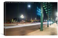 Tyne Bridge light trails - Newcastle, Canvas Print