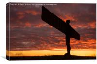 The Angel of the North, Gateshead - sunset, Canvas Print