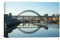 Tyne Bridge reflections, Canvas Print