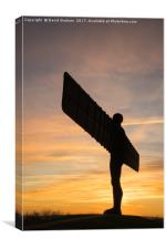 The Angel of the North, Gateshead - sunset , Canvas Print