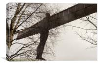 Angel of the North in the snow, Canvas Print