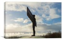 Angel of the North in the snow , Canvas Print