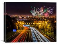 Welcome to Glasgow Guy Fawkes, Canvas Print