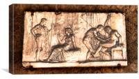 Original Pompei Ceramic Arwork, Canvas Print