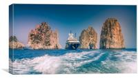 Millionaires Yacht, Canvas Print