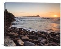 Dooneen Pier Sunset 1, Canvas Print