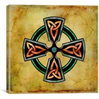 Watercolor Celtic Circle, Canvas Print