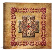 Celtic Square Cross Framed, Canvas Print
