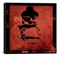 Big Red Buddha, Canvas Print