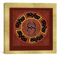 Tribal Celt Asase Ye Duru Mother Earth Symbol, Canvas Print