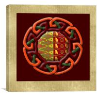 Tribal Celt Earthiness Symbol, Canvas Print