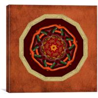 Tribal Celt Mandala #1, Canvas Print