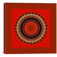 Light Waves Mandala, Canvas Print