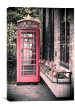 The Telephone Box, Canvas Print