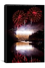 Clifton Suspension Bridge 150th Anniversary firewo, Canvas Print