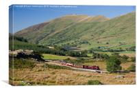 Beyer Garratt loco No.138 winds its way out of Rhy, Canvas Print