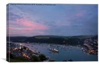 Dusk over the River Dart, Canvas Print
