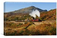 Snowdonian autumn steam, Canvas Print