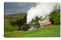 34007 Wadebridge on the Bodmin & Wenford Railway, Canvas Print