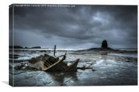 Saltwick Bay Wreck, Canvas Print